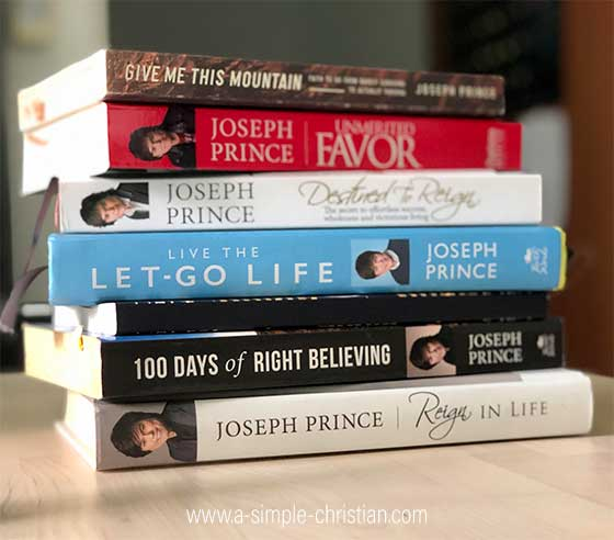 A small collection of Christian books by Joseph Prince.