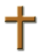 A simple Christian cross - a symbol of Christianity.
