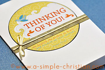 christian greeting card/Thinking of You Card