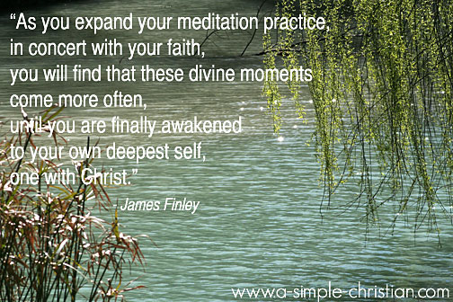 daily meditation/James Finley's Quote on Meditation