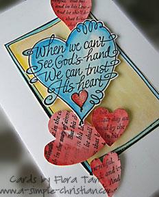 christian greeting card/God's Heart Greeting Card