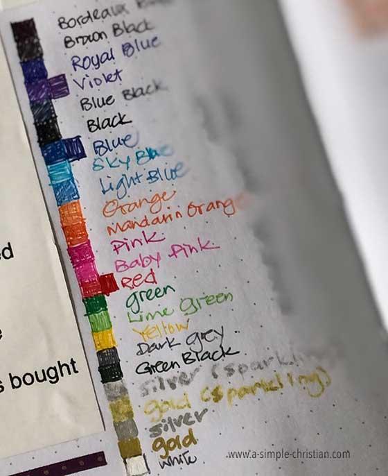 Best pens for journal.