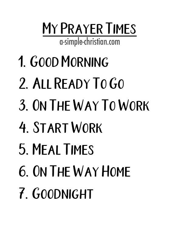 7 Planned Prayer Times